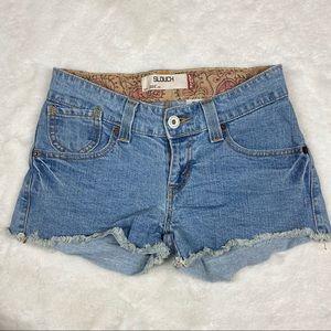 Levi's 504 Slouch Light Wash Denim Shorts